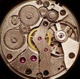 Maquinismo de relojoaria mecânico. Fotos de Stock Royalty Free