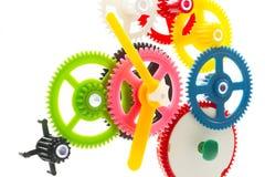 Maquinismo de relojoaria multicolorido Fotos de Stock Royalty Free