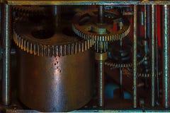 Maquinismo de relojoaria velho Fotos de Stock Royalty Free