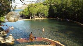 Maquinit Hot Springs, Coron, Palawan, Filippinerna lager videofilmer