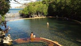 Maquinit Hot Springs, Coron, Palawan, Filippinerna stock video