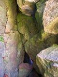 Maquoketa grottadelstatspark Iowa Arkivfoton