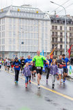 março, ó 2015 maratona da harmonia em Genebra switzerland Foto de Stock Royalty Free