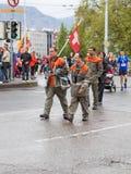 março, ó 2015 maratona da harmonia em Genebra switzerland Fotos de Stock
