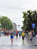 março, ó 2015 maratona da harmonia em Genebra switzerland Imagens de Stock Royalty Free