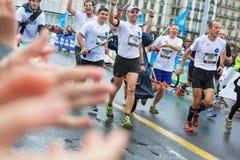 março, ó 2015 maratona da harmonia em Genebra switzerland Imagem de Stock Royalty Free