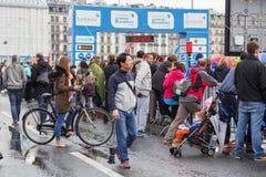março, ó 2015 maratona da harmonia em Genebra switzerland Imagens de Stock