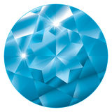 Março Birthstone - Aquamarine ilustração do vetor