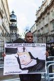março contra políticas do trunfo Fotos de Stock