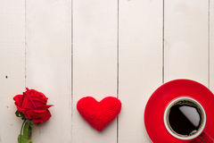 8 março, coração vermelho Imagens de Stock Royalty Free