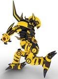 março da abelha do robô Fotografia de Stock