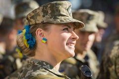 março da independência em Kiev Fotos de Stock Royalty Free
