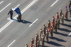 março da independência em Kiev Fotografia de Stock