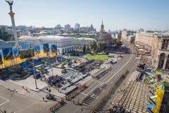 março da independência em Kiev Fotografia de Stock Royalty Free