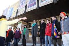 março da solidariedade do ` s das mulheres Fotografia de Stock Royalty Free