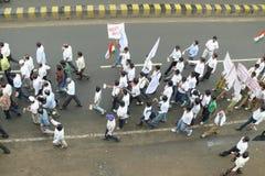 Março de encontro à corrupção em India Imagens de Stock