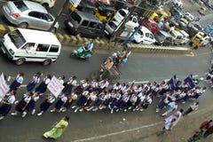 Março de encontro à corrupção em India Foto de Stock