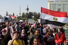 Março de encontro ao regime militar - janeiro 25 2012 Imagens de Stock