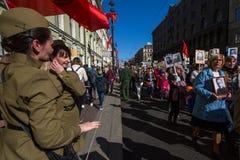 março imortal do regimento nas celebrações de Victory Day Fotografia de Stock Royalty Free