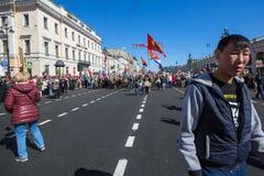 março imortal do regimento nas celebrações de Victory Day Imagens de Stock Royalty Free