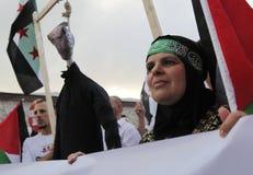 Março para comemorar a invasão de Mavi Marmara Imagem de Stock