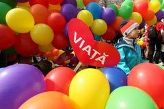 março para a vida - Bucareste, Romênia imagens de stock royalty free