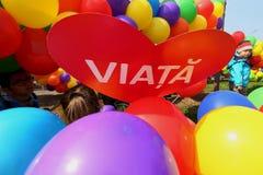 março para a vida - Bucareste, Romênia imagem de stock