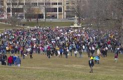 março por nossas vidas em Hartford Connecticut Imagens de Stock Royalty Free