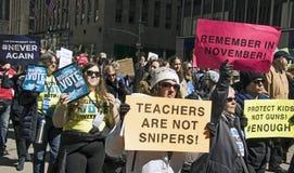 março por nossas vidas, New York Imagens de Stock