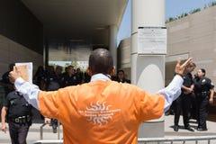 março preto do protestor da matéria das vidas na câmara municipal Fotografia de Stock