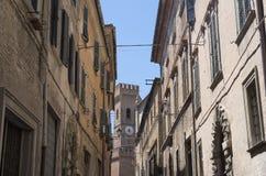 marços de Ostra, Itália na manhã Imagem de Stock