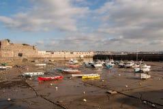 Maré baixa do porto de Socoa Fotografia de Stock Royalty Free