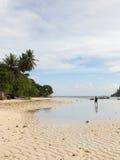 Maré baixa na ilha de Mahe Fotografia de Stock