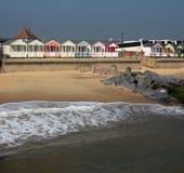 Maré e cabanas Foto de Stock Royalty Free