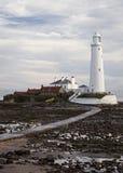 A maré está para fora na ilha do St Marys Foto de Stock