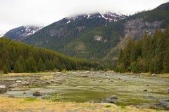 Marée basse à un site éloigné en Alaska Images libres de droits
