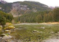 Marée basse à un site éloigné en Alaska Image stock