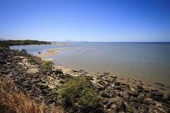 Marée basse chez Yule Point Image libre de droits