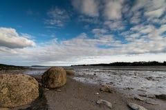 Marée basse dans la baie de Fundy photos stock