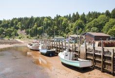 Marée basse dans le Canada Image libre de droits