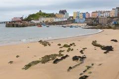 Marée basse de Tenby Pays de Galles Images libres de droits