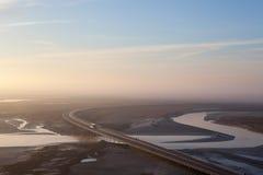 Marée basse du pont, France Photographie stock libre de droits