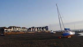 Marée basse Exmouth Devon Images stock