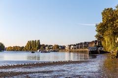 Marée basse sur la Tamise, Chiswick Photographie stock libre de droits