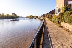 Marée basse sur la Tamise, Chiswick Photo libre de droits