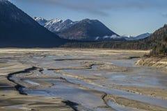 Marée basse sur le réservoir de Sylvenstein photo libre de droits