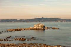 Marée basse sur une plage en Espagne photographie stock