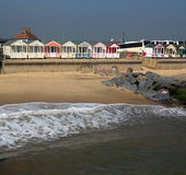 Marée et huttes Photo libre de droits