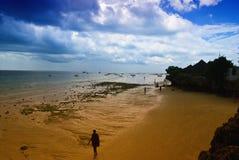 Marée inférieure dans Nungwi Images libres de droits