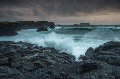 Marée orageuse Photographie stock